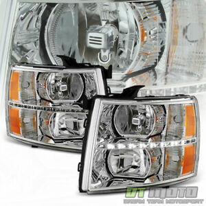 2007 2008 2009 2010 2011 2012 2013 Chevy Silverado 1500 Led Drl Headlights Lamps