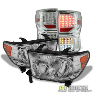 For 2007 2013 Toyota Tundra Headlights Full Led Tail Lights 07 13 Left Right