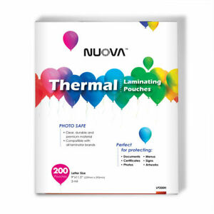 200 Packs Nuova Premium Thermal Laminating Pouches 9 X 11 5 Letter Size 3 Mil