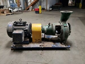 Worthington Pump 8x10x13 Model 8frbh152 3600 Gpm 75hp Motor And Fabricated Base