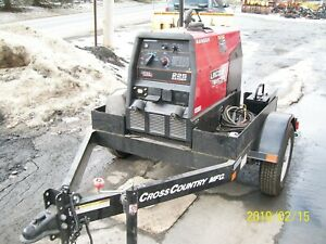Lincoln Ranger 225 Welder Only 14 Hours both Leads Included On New Trailer
