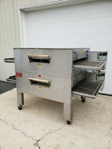 Edge 60 Series Double Stack Gas Fired Conveyor Pizza Ovens 32 Belt Width