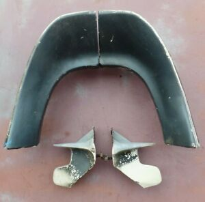 Set 1971 1972 Ford Maverick Rear Fender Extensions With Lower Caps Lh Rh