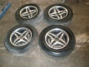 Fiat 124 Wheel Rims 13 x5 5 Set Of 4 Vintage Made In England