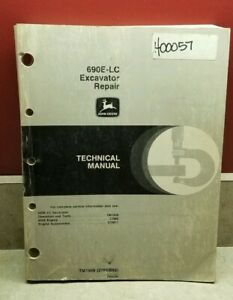 John Deere 690e Lc Excavator Service Repair Technical Tech Manual Tm1509 Feb 92