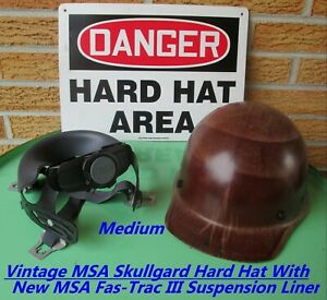 Msa Skullgard Hard Hat With New Msa Staz on Suspension Liner