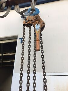 Beebe Lh1800 Roustabout 9 Ton Lever Chain Hoist 6 5 Ft Lift Made In Usa h7