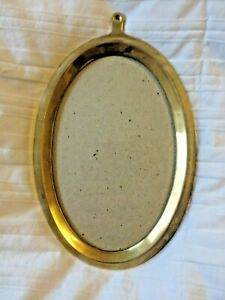 Vintage Brass Metal Oval Glass Picture Frame 8 1 2 T