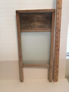 Primitive Antique Vintage Washboard Small Glass Lingerie Can T See Brand