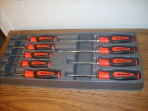 Snap On 9pc Torx Screwdriver Set Red Soft Grip Sgdtx W Case Excellent T8 T45