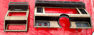 1980 1986 Ford Bronco truck Cluster And Radio Wood Grain Bezel F150 250 350