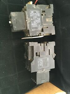 Abb Contactor B30 120v Coil 45a 600v W Aux Contact Block Used Lot Of 2