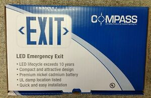 Case Of 6 Compass Led Emergency Exit Signs Cer Hubbell Lighting New