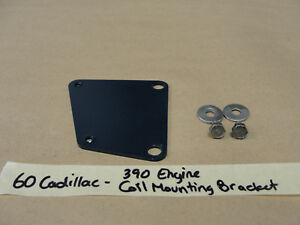 1960 60 Cadillac 390 Engine Ignition Coil Mounting Bracket Plate Bolts Hardware