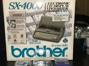 Brother Sx 4000 Electronic Lcd Display Typewriter With Dictionary Open Boxbundle