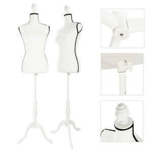 Female Mannequin Torso Wedding Clothing Display W White Mdf Tripod Stand New