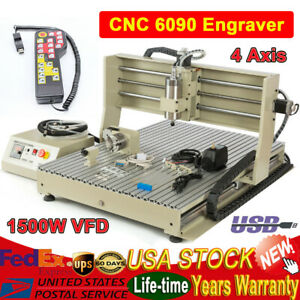 4 Axis Engraver Usb Cnc6090 Router Engraving Drilling Milling Machine handwheel