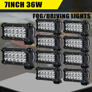 10x High Power 12 led 36w Spot Beam Work Light Lamp For Suv Truck Tractor Boat