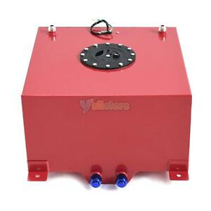10 Gallon Universal Aluminum Racing drift Fuel Cell Tank Level Sender Red