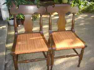 Lot 2 Consider Willett Side Dining Chairs Lyre Urn Back Sturdy Solid Cherry