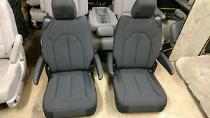 New Takeouts Black Cloth 2 Bucket Seats Hotrod Jeep Truck Van Bus Humvee