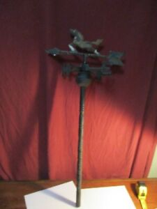 Vintage Weather Vane Horse Arrow Galloping Stallion Aluminum Missing South