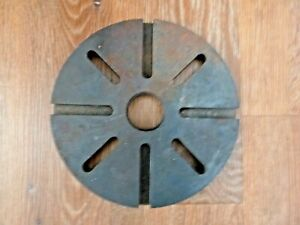 Lathe 8 Slotted Faceplate Face Plate Antique Rivett 1 5 8 12 Tpi