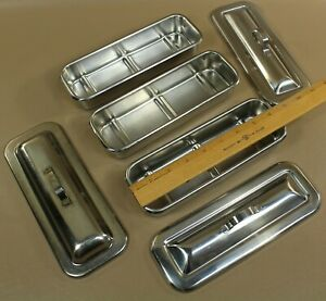 Vollrath 8283 Surgical Instrument Trays With Covers Qty 3