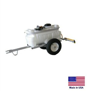 Sprayer Commercial Farm Trailer Mounted 25 Gallon Tank With 4 Ft Boom