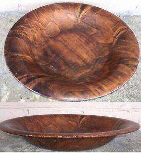 Rare Vintage Or Antique Asian Chinese Huanghuali Thin Solid Wood Bowl