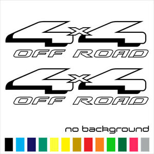 2x 4x4 Off Road Sticker Vinyl Decal Truck Bed Side F150 Super Duty Fx4 Car
