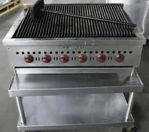 Wolf 6 Burner Range Grill W Stainless Wheeled Cart