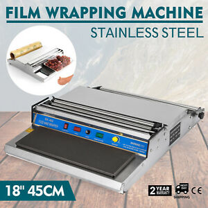 18 Food Tray Film Wrapper Wrapping Machine Sealer Cling Fruit Stainless Steel