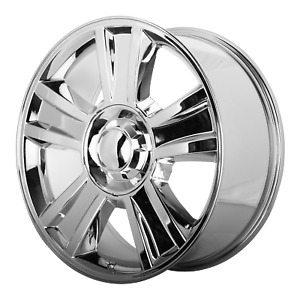 Chevrolet Silverado Style Wheel 20x8 5 31 Chrome 6x139 7 6x5 5 Qty 2