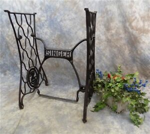 Treadle Sewing Machine Cast Iron Base Industrial Age Table Singer Steampunk Nt