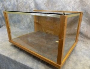 Wood Framed Glass Vintage Showcase Country General Store Countertop Display N
