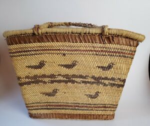Northwest Coast Basket Makah Nootkah Native American Basket Double Walled