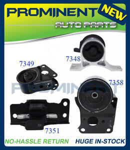 Motor Trans Mount Set For 4pcs 04 09 Nissan Altima Maxima Quest 3 5l V6 Auto