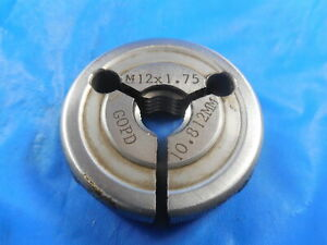 M12 X 1 75 Metric Thread Ring Gage 12 0 Go Only P d 10 879 Mm Quality Tools