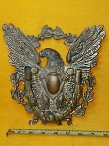 Large Vintage Antique Brass Bronze American Eagle Door Knocker Federal Classic