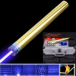 High Power Blue Laser Pointer 450nm Lazer Burning Match Lit Cigarette Wood