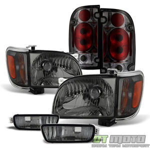 For Smoked 2001 2004 Toyota Tacoma Headlights Corner Signal Bumper Tail Lights