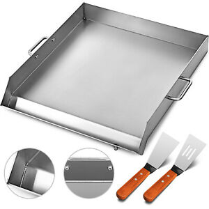 18 X 16 Stainless Steel Griddle Flat Top Grill Griddle For Triple Bbq Stove