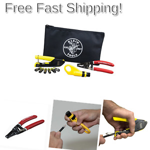 Coax Installation Kit With F Connectors Cable Cutter Compression Tool Stri