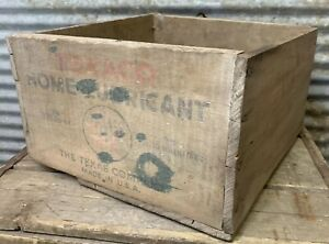 Vtg 40s Texaco Home Lubricant Original Wooden Shipping Crate Box 36 3 Oz Can