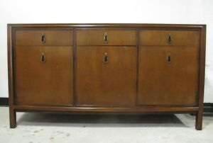 John Stuart Mt Airy Mid Century Modern Walnut Credenza Sideboard Stereo Cabinet