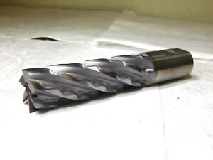 Weldon Tool Co Hss End Mill 1 25 Dia 6fl Ticn 4 loc 1 25 Shank Dia 6 5 l 65917