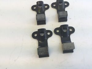 Set Of 4 Nos Hood Latch Receivers Dodge Cadillac Packard Stutz Buick Ford