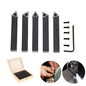 5 Pc 1 2 Lathe Indexable Carbide Insert Turning Tooling Bit Holder Set