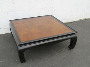 Hollywood Regency Mid Century Two Tone Large Coffee Table By Henredon 9045